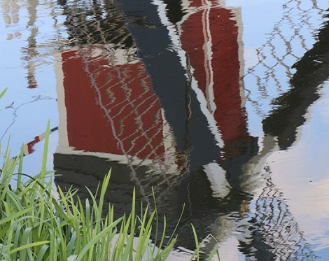 Foto molen in water